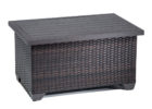 Tk Maxx coffee table with black wood and wicker pattern