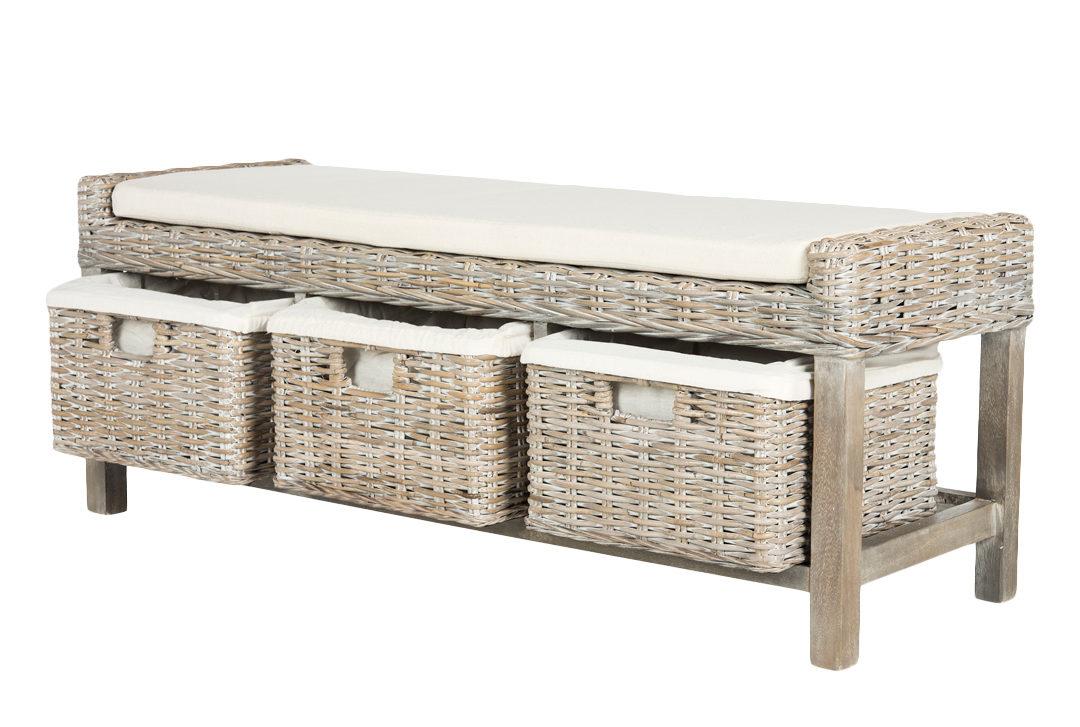 Tk Maxx coffee table with three wicker storages design