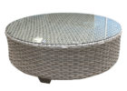 Tk Maxx coffee table with wicker base and glass on top ideas