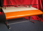airplane wing coffee table with glass on top ideas