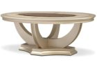 american signature coffee table round white wood