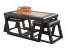 american signature coffee table set with glass on top