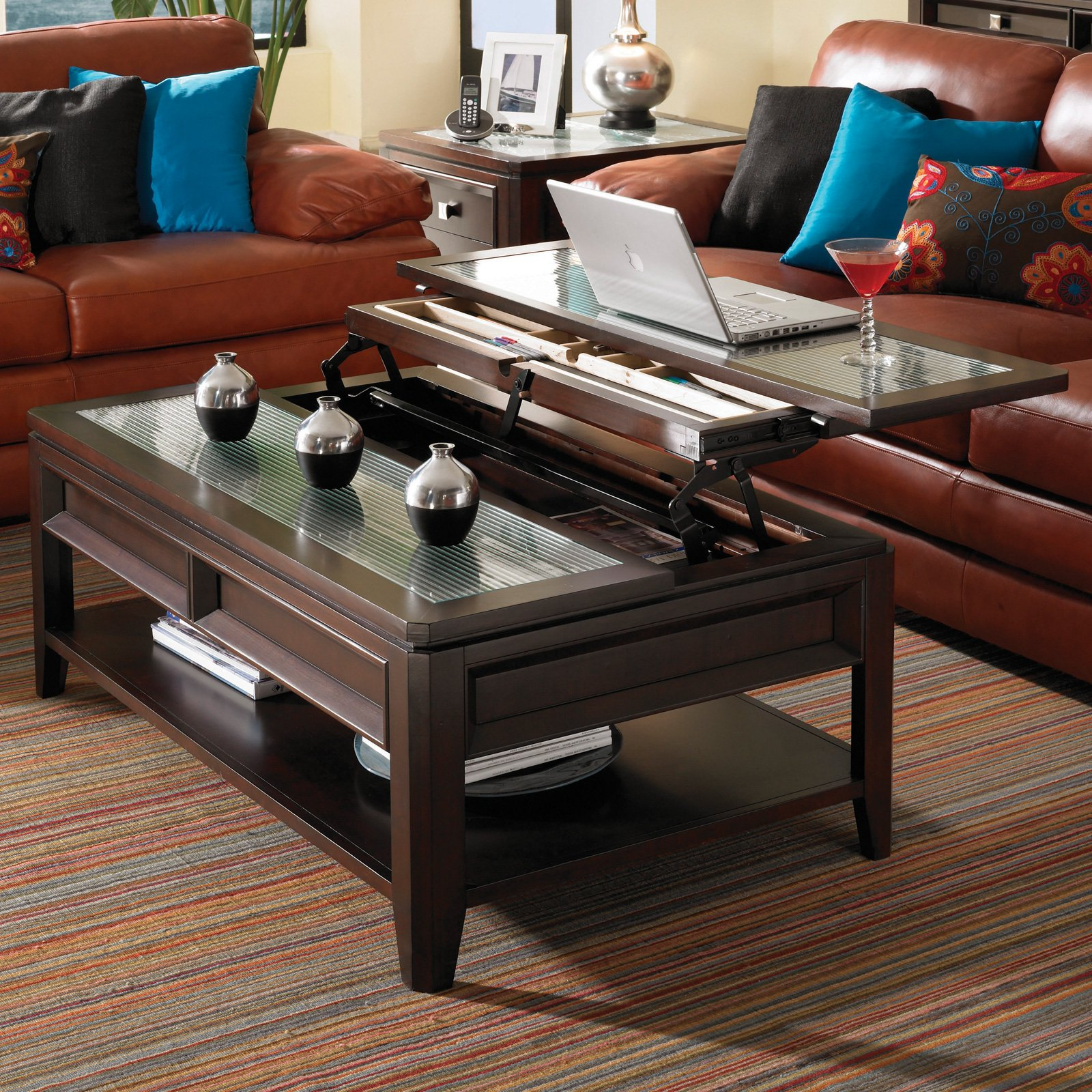 ashley furniture lift top coffee table modern wood