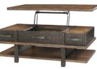 ashley furniture lift top coffee table wood rustic