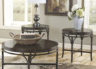 ashley furniture round coffee table black wood