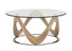 ashley furniture round coffee table glass