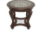 ashley furniture round coffee table glass on top
