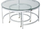 ashley furniture round coffee table glass on top with metal legs