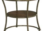ashley furniture round coffee table rustic