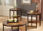 ashley furniture round coffee table solid wood