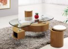 ashley furniture round coffee table with glass contemporary style
