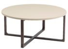 ashley furniture round coffee table with metal legs