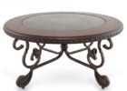 ashley furniture round coffee table with metal legs design