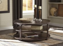 ashley furniture round coffee table with storage