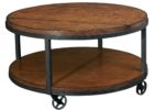 ashley furniture round coffee table with wheels