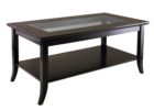 average coffee table size with glass on top