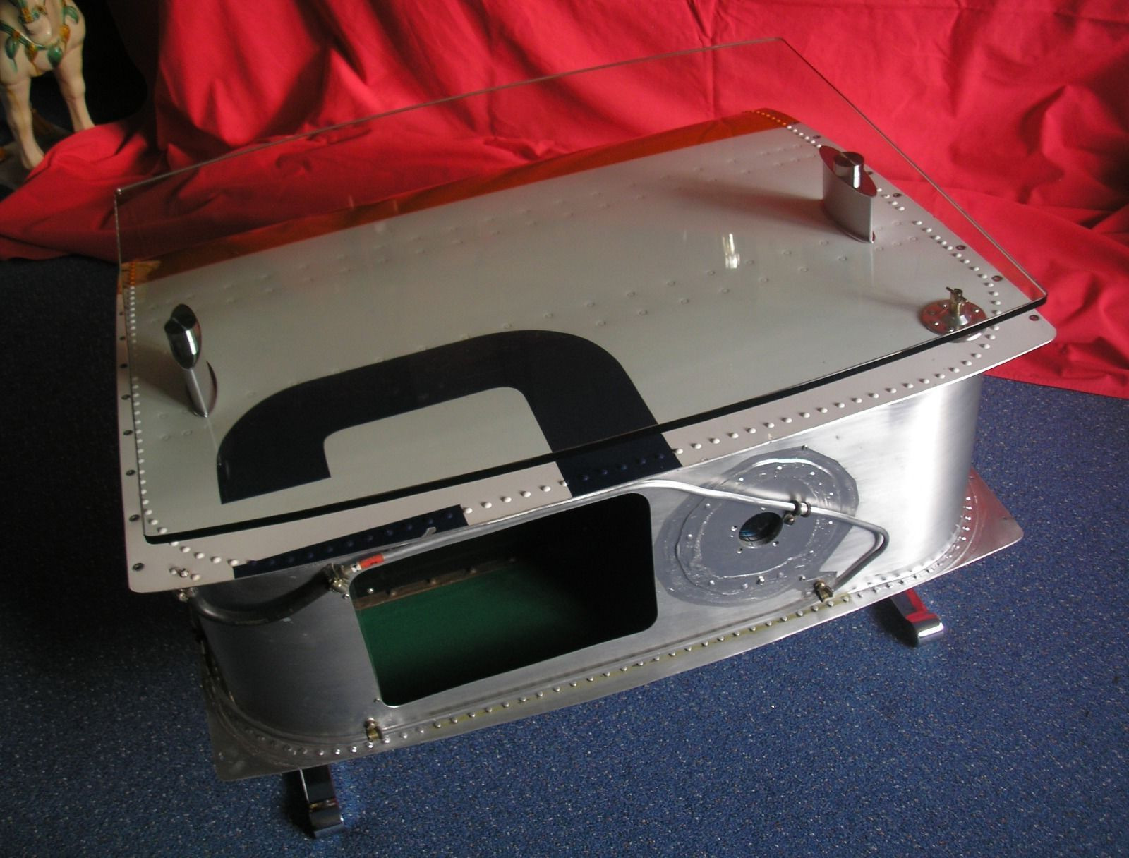 awesome airplane wing coffee table