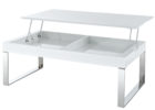 awesome lift top white gloss coffee table Ikea with metal legs