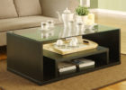 best black modern living room coffee tables with glass on top design
