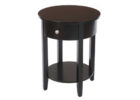 best black round wooden living room end tables