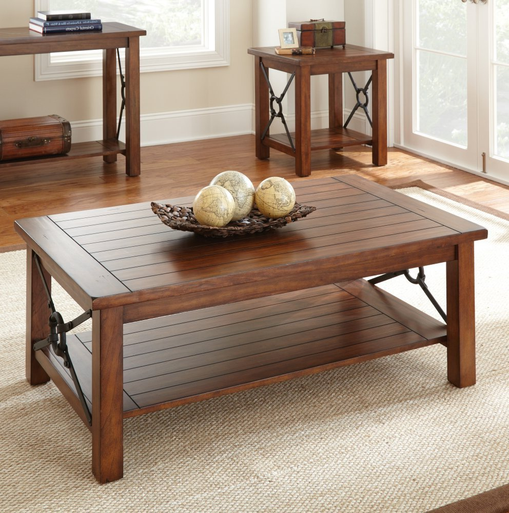 Cheap end tables and coffee table sets furniture for Cheap oak coffee table