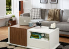 best contemporary white living room coffee tables