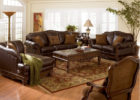 best luxury brown leather living room sets