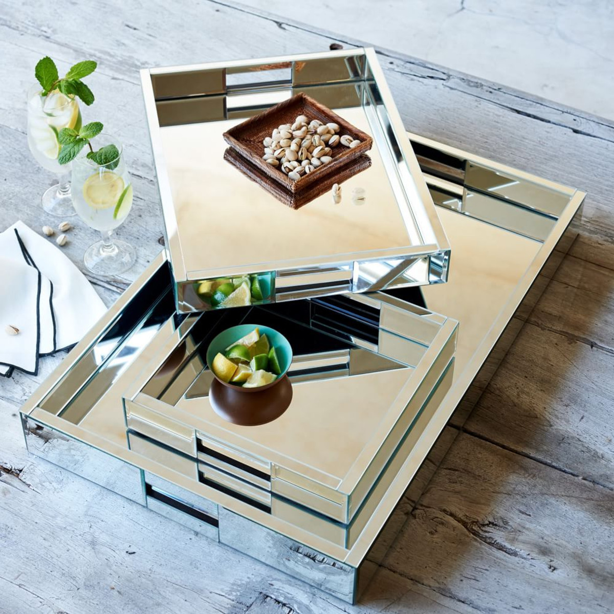 best mirrored coffee table tray design