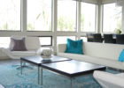 best modern blue carpet for living room