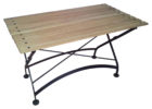 best pine wood fold up coffee table with metal legs