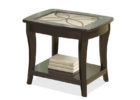 best small black living room end tables with glass on top design