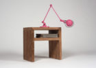 best small cherry wood living room end tables with built in pink lamps design