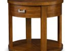 best small round cherry wood living room end tables with storage designs