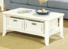 best white inexpensive coffee tables with storage