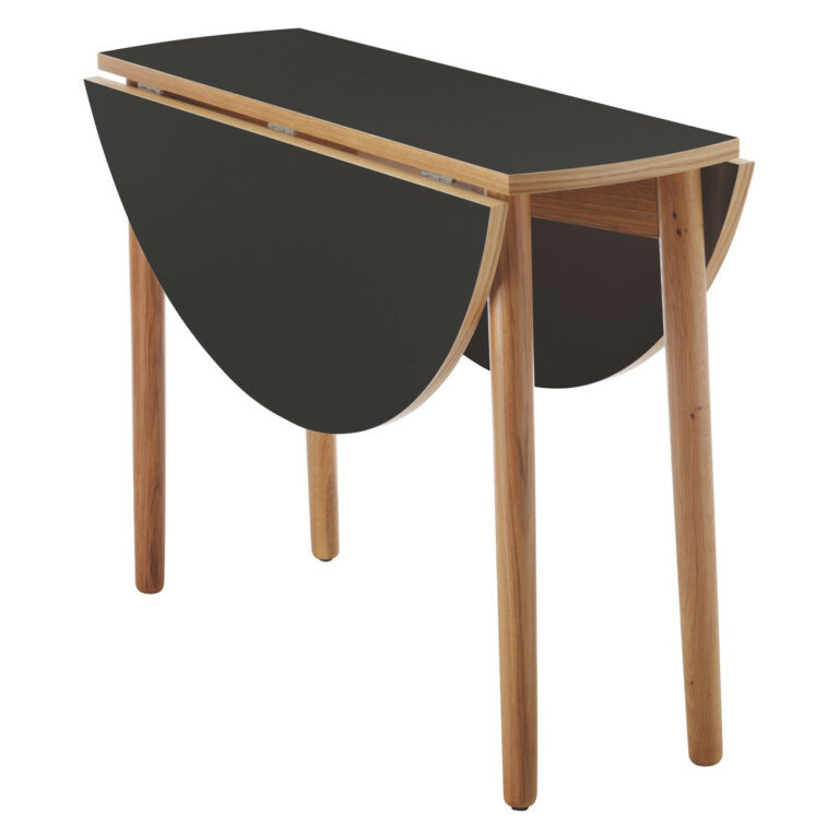 black fold up coffee table from oak wooden