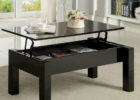 black lift top narrow coffee table with storage
