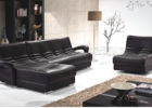 black modern sectional sofa leather living room sets
