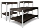 black oak cheap end tables and coffee table sets