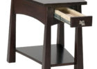 black solid wood living room end tables wih storage design