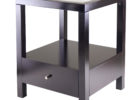black solid wood living room end tables with storage design