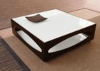 black white gloss coffee table with storage