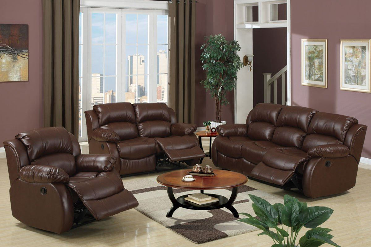 leather reclining living room sets leather living room chairs sets with ottoman 18744