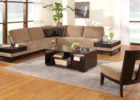 brown sectional sofa with cheap modern furniture