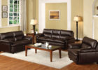 cheap black leather living room sets
