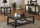 cheap end tables and coffee table sets black solid wood