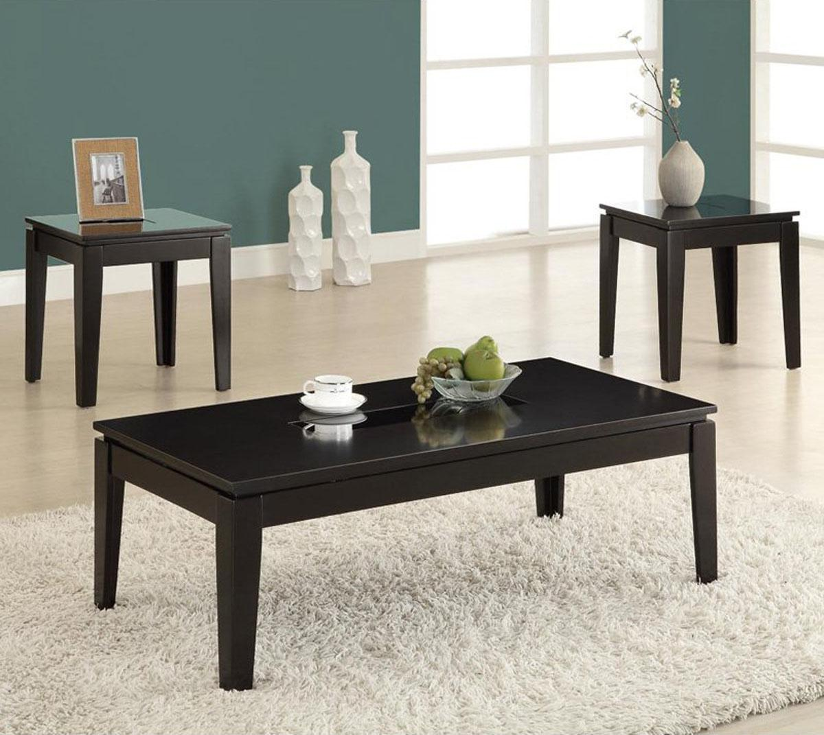 cheap end tables and coffee table sets black wood