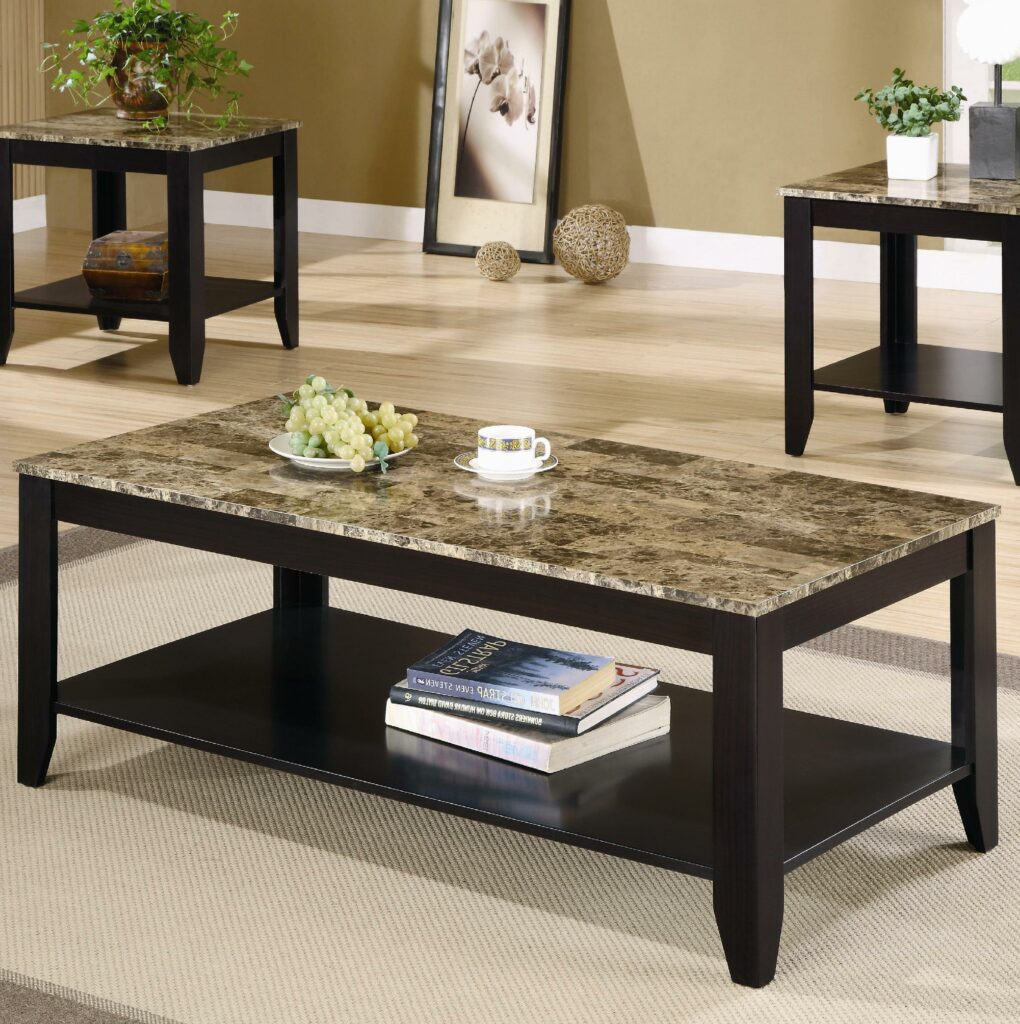 cheap end tables and coffee table sets modern marble on top raysa house. Black Bedroom Furniture Sets. Home Design Ideas