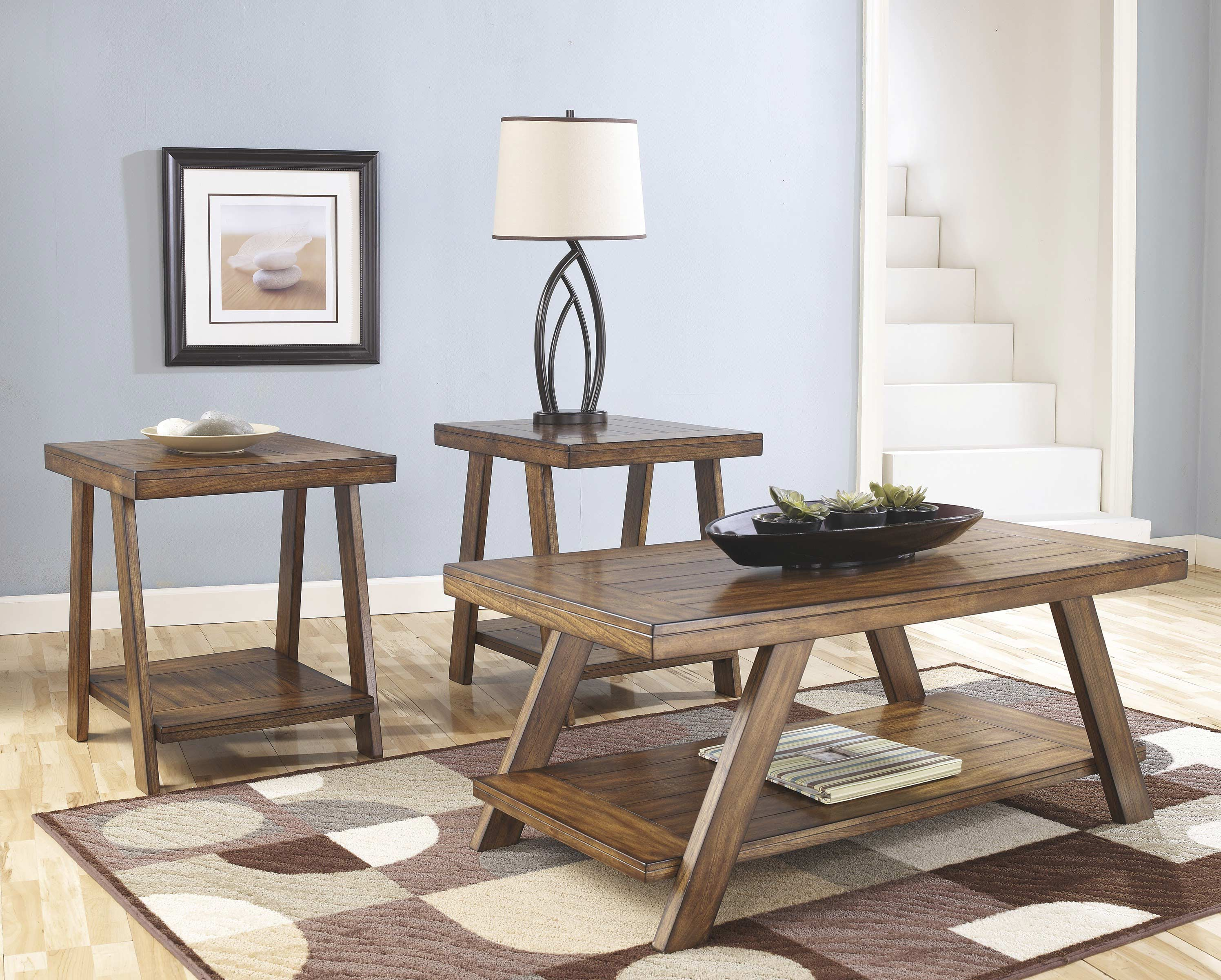 cheap end tables and coffee table sets oak wood