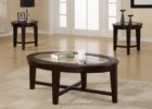 cheap end tables and coffee table sets with modern glass on top