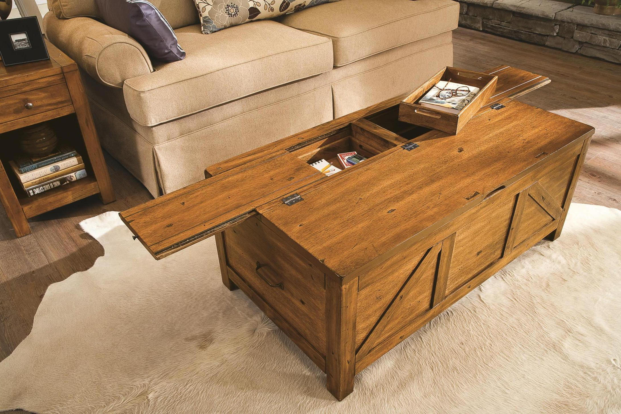 cheap wooden living room chest coffee tables
